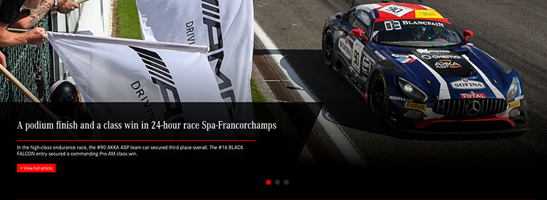 Mercedes-AMG Customer Racing congratulates Mercedes #90