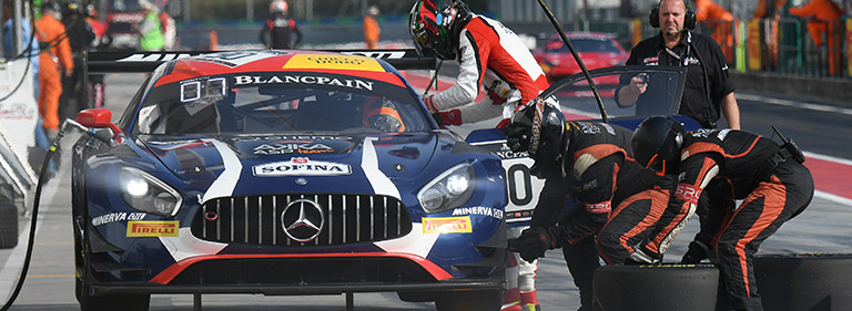 An uphill battle for the AMG GT3 number 90