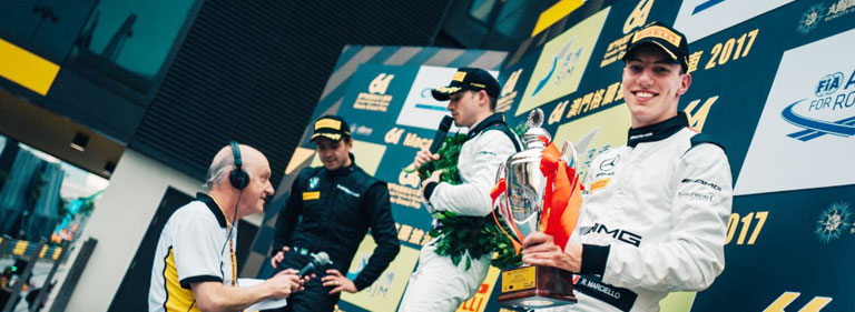 Podium at the FIA GT WORLD CUP in MACAU